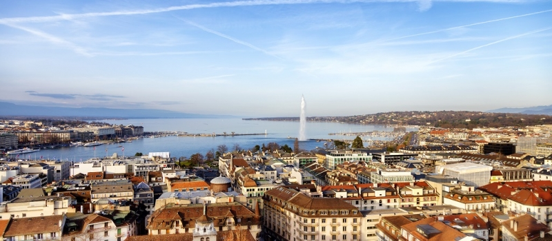 Lake Geneva from Above, Geneva, Switzerland