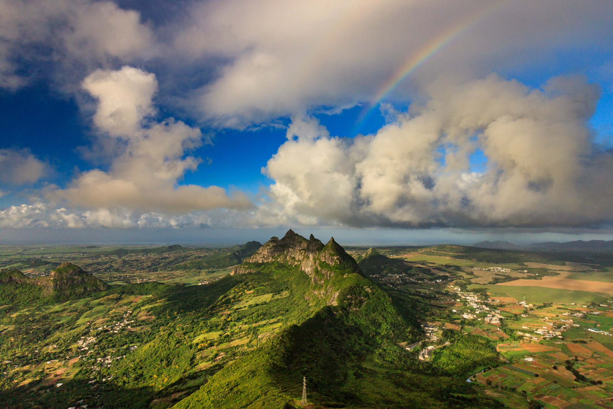 Rainbow as seen from Le Pouce, Mauritius