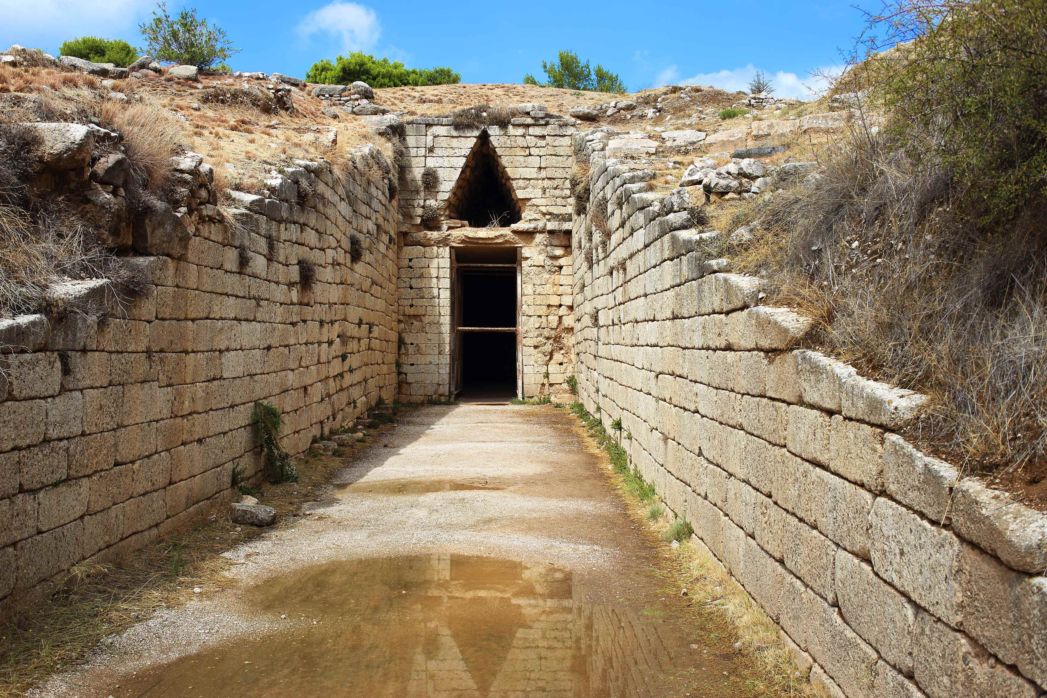 "Mycenae, Greece. Bronze age tomb, ""Tholos of Clytemenestra"""